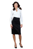 Businesswoman in a blouse and skirt Stock Image