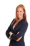 Businesswoman in a blue jacket Royalty Free Stock Photos