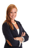 Businesswoman in a blue jacket Royalty Free Stock Images
