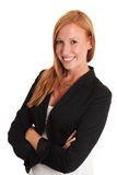Businesswoman in a blue jacket Stock Images