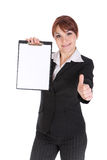 Businesswoman with board Royalty Free Stock Photo