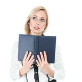 Businesswoman with book Stock Photography