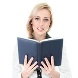 Businesswoman with book Royalty Free Stock Image