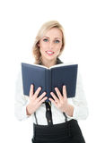 Businesswoman with book Royalty Free Stock Photo