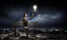 Businesswoman with book Royalty Free Stock Images