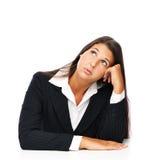 Businesswoman bored Royalty Free Stock Photo