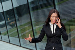 Businesswoman bossy on the phone Stock Image