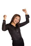 businesswoman with both arms up high, Royalty Free Stock Images