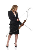 Businesswoman with bow Stock Images