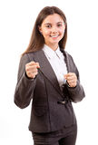 Businesswoman boxing Royalty Free Stock Images