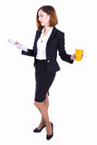 Businesswoman at the brake Stock Photography