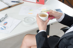 Businesswoman during a break Royalty Free Stock Image