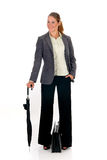Businesswoman briefcase Stock Image