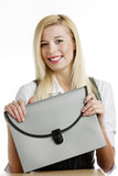 businesswoman with briefcase Royalty Free Stock Photography