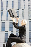 Businesswoman with a briefcase Royalty Free Stock Image