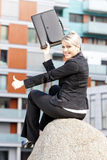 Businesswoman with a briefcase Stock Image