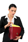 Businesswoman with a briefcase Stock Photos