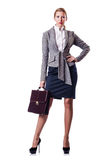 Businesswoman with briefcase Royalty Free Stock Photo