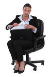 Businesswoman with a briefcase Royalty Free Stock Photography