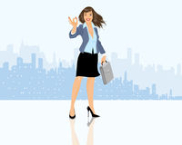 Businesswoman with briefcase Stock Photography