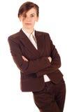 Businesswoman in brown Stock Photos
