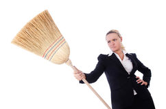 Businesswoman with brush Royalty Free Stock Photography
