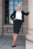 Businesswoman by building Royalty Free Stock Image