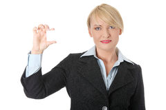 Businesswoman with business card Stock Image