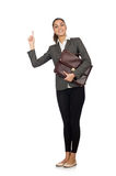 Businesswoman in business concept isolated on Stock Photos