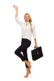 Businesswoman in business concept isolated Stock Image
