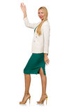 Businesswoman in business concept isolated Stock Images