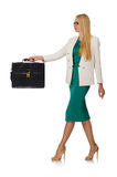 Businesswoman in business concept isolated Stock Photography