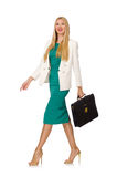 Businesswoman in business concept isolated Royalty Free Stock Image
