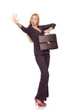 Businesswoman in business concept isolated Royalty Free Stock Photo