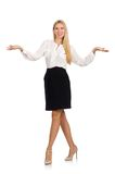 Businesswoman in business concept Stock Photo