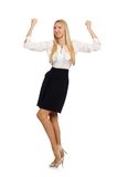 Businesswoman in business concept Stock Photography