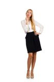Businesswoman in business concept Royalty Free Stock Image