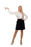Businesswoman in business concept isolated on Stock Photography