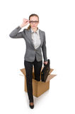 Businesswoman in business concept isolated on Royalty Free Stock Photography