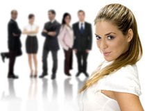 businesswoman and business group Royalty Free Stock Image