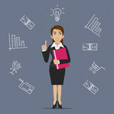 Businesswoman business idea Royalty Free Stock Photos