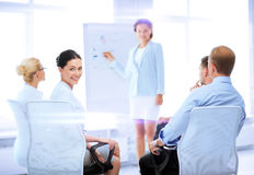 Businesswoman on business meeting in office Stock Images