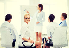 Businesswoman on business meeting in office Royalty Free Stock Photos