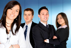 Businesswoman - business team Royalty Free Stock Image