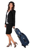 Businesswoman on a business trip Royalty Free Stock Photography