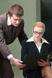 Businesswoman and businessman Royalty Free Stock Photos