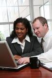 Businesswoman and Businessman Stock Photo