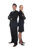 Businesswoman and businessman royalty free stock photo