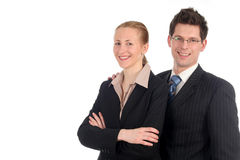 Businesswoman and businessman Royalty Free Stock Images