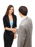 Businesswoman and businessman Stock Photos